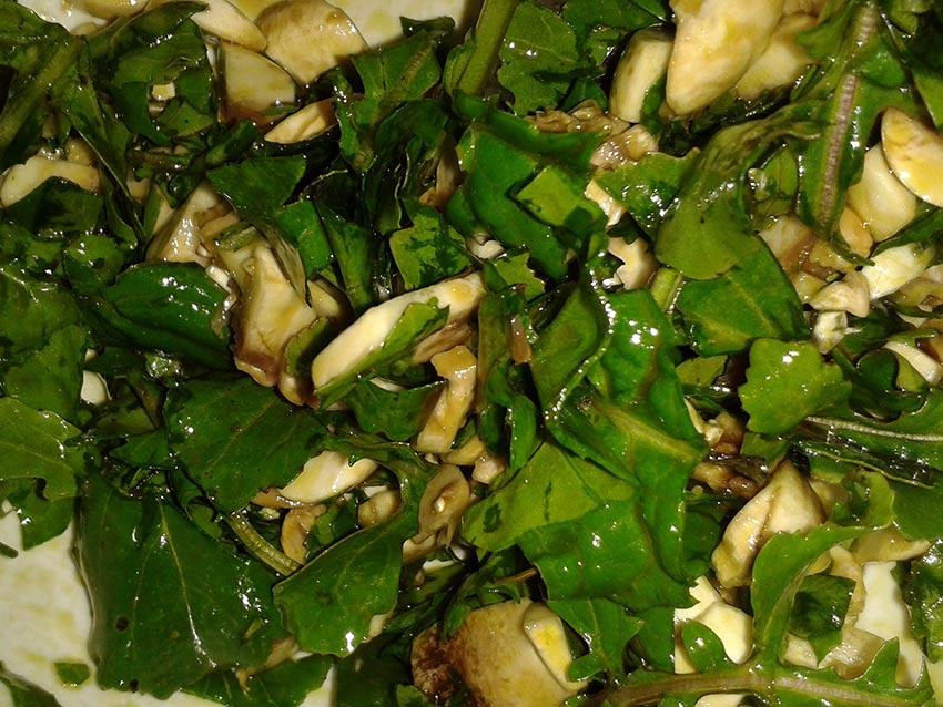 Salata od rikule i šampinjona